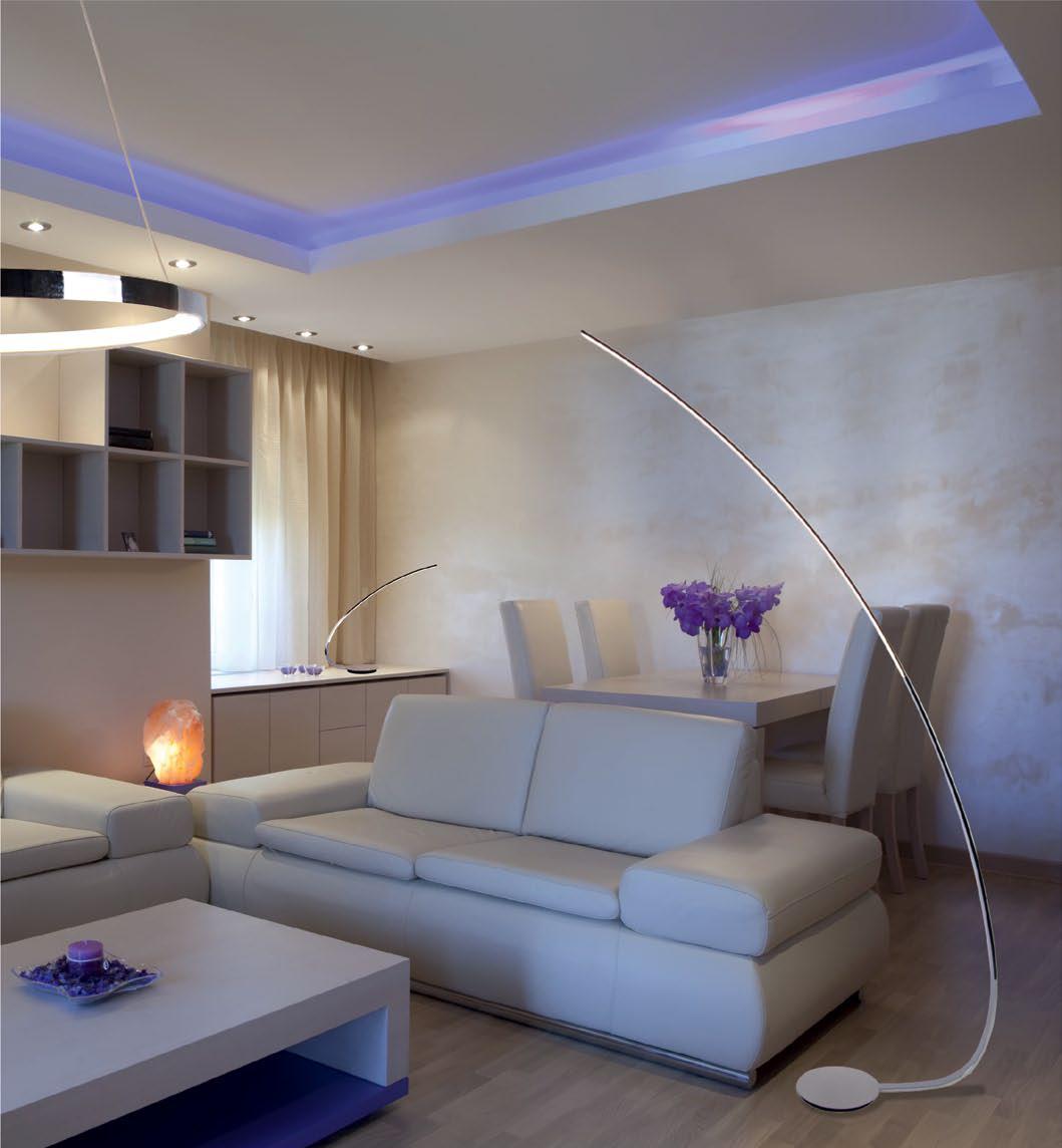 Lampa Podłogowa Zuma Line Stone Medel Floor Sl489ch 22w Led Chrom